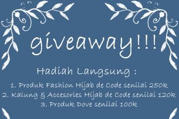 Yuk Ikutan Giveaway Hijab De Code dan Menangkan Hadiah Langsung Senilai 590K, Mau?