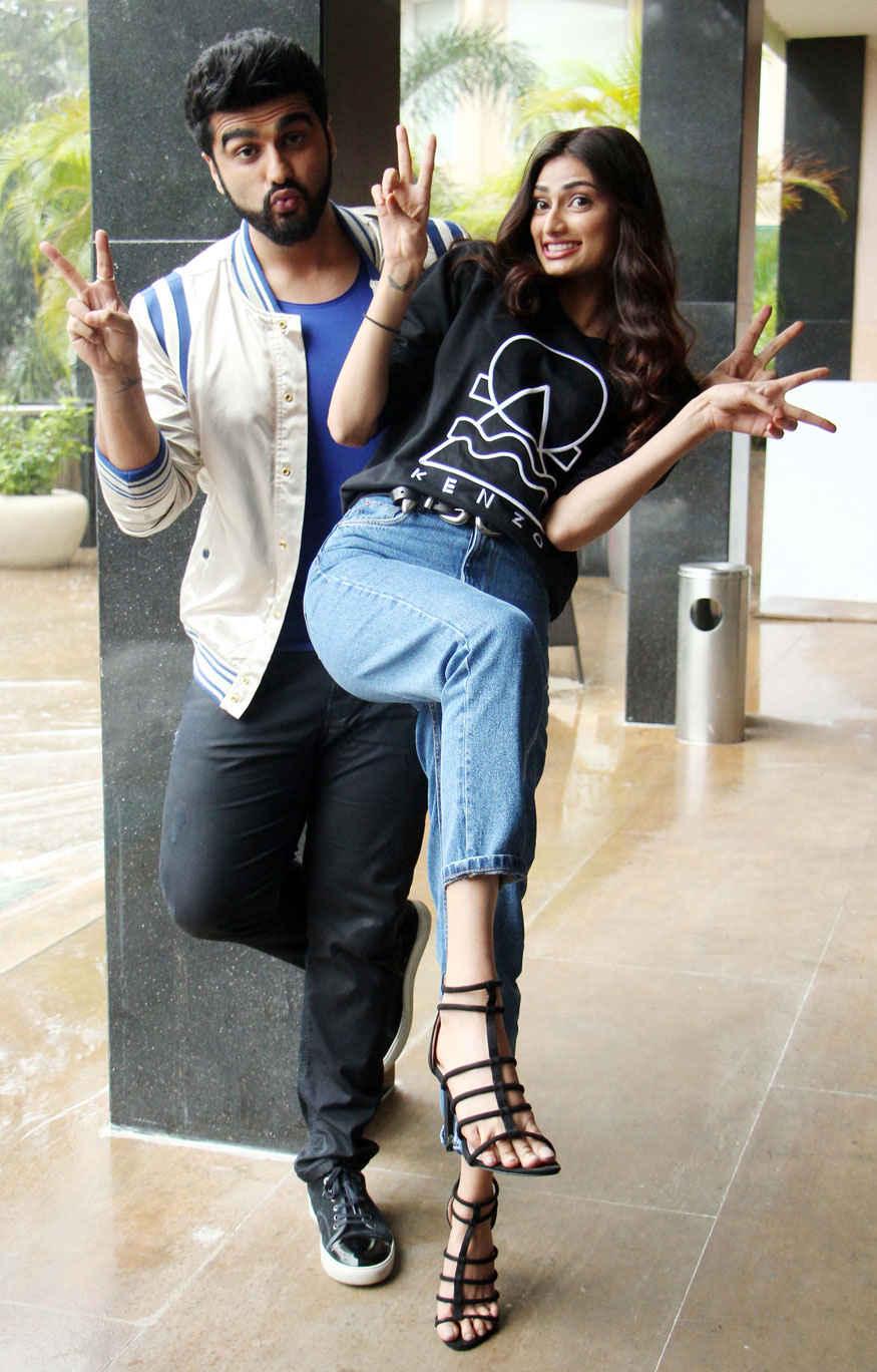 Arjun Kapoor and Athiya Shetty at Novotel Hotel In Mumbai