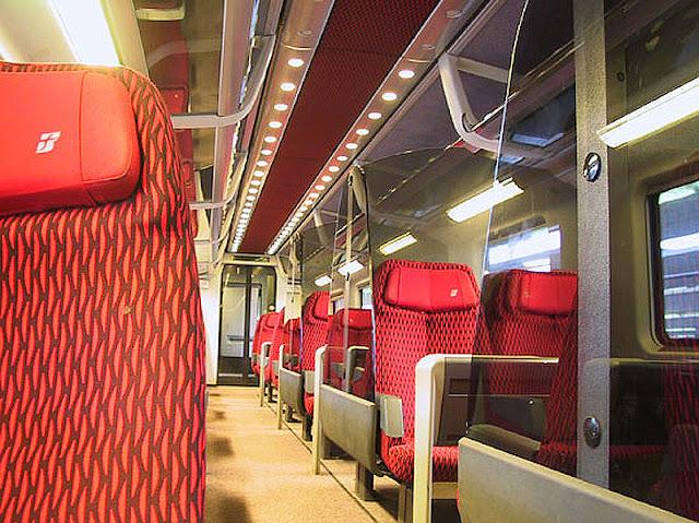 Trens da Itália na parte interna