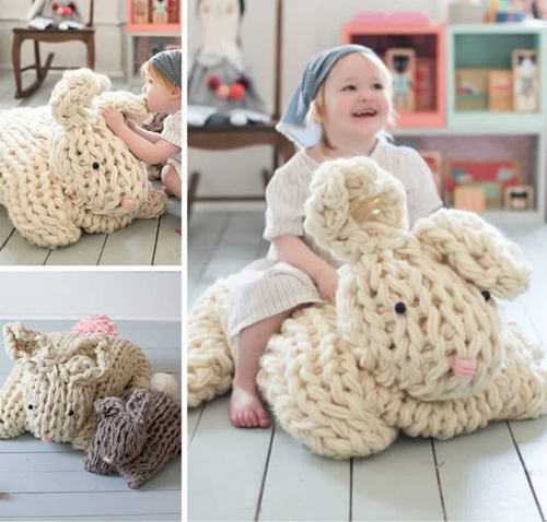 Giant Arm Knit Bunny - Tutorial