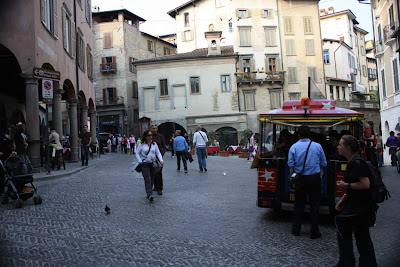Piazza del Mercato in Bergamo