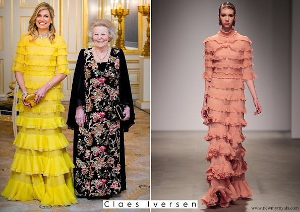 Queen Maxima wore Claes Iversen Dress from Haute Couture SS2017 Collection