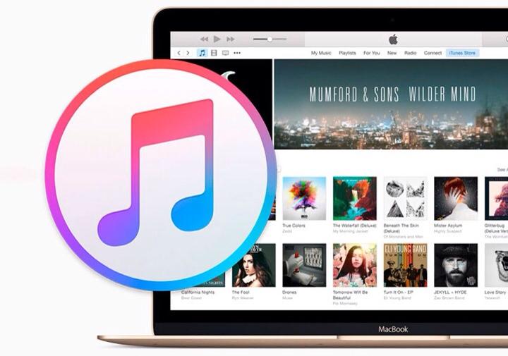 Layar utama iTunes Store