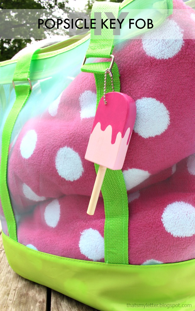 diy popsicle key fob