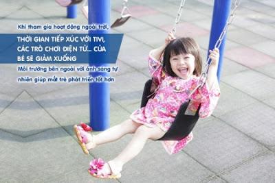 Lợi ích giúp trẻ giảm cận thị