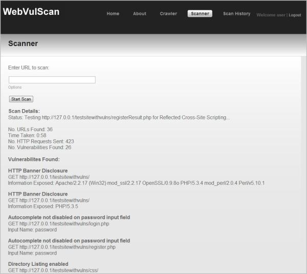 WebVulScan Scanner Image