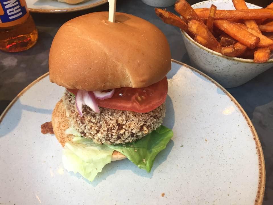 handmade burger co vegan options