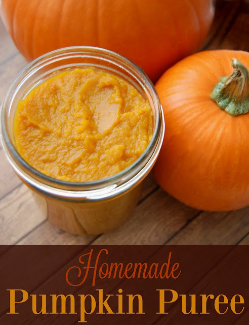 Homemade Pumpkin Puree - It's actually quite easy to make, saves you money, and you don't have to worry about BPA in your cans leaching to your puree!