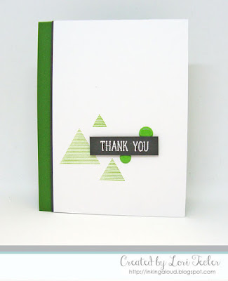 Triangular Thank You card-designed by Lori Tecler/Inking Aloud-stamps from Altenew
