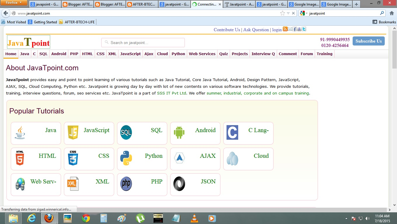 JAVAT POINT JAVATPOINT:: LEARN ALL PROGRAMING LANGUAGES FREE