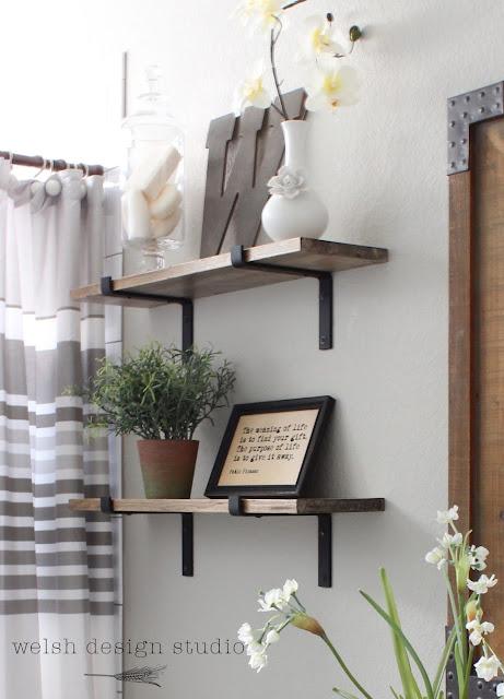 industrial bathroom shelves diy