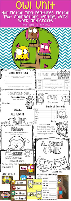 https://www.teacherspayteachers.com/Product/All-About-Owls-284759