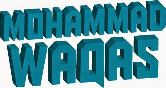waqas name 3d