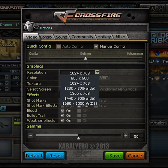 Crossfire PH Screen Resolutions