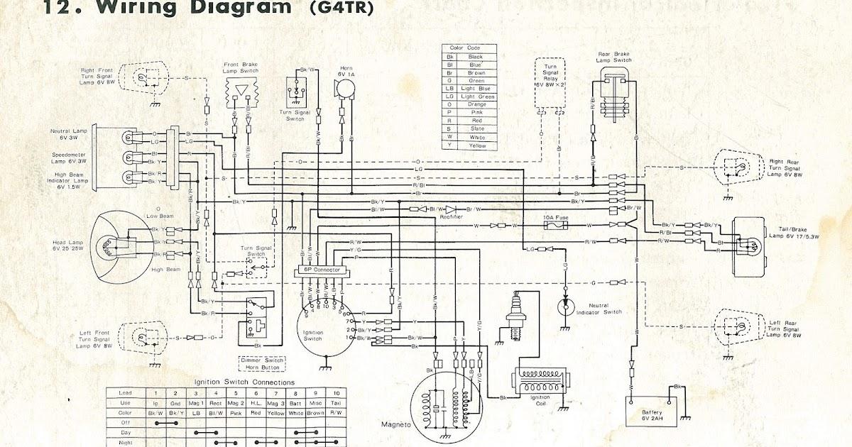 Restoring a 1972 Kawasaki G4 TR-B Motorcycle Wiring Diagram