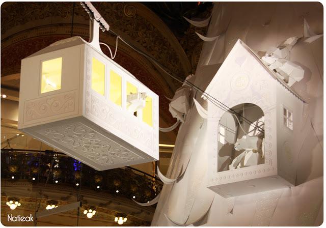 le téléphérique  de Lorenzo Papace aux Galeries Lafayettes