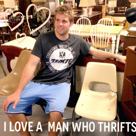 I love a man who thrifts
