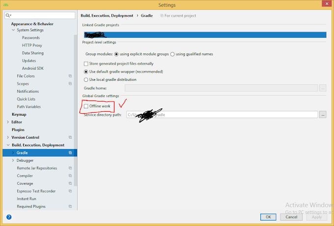 Enable offline mode to improve Android Studio speed