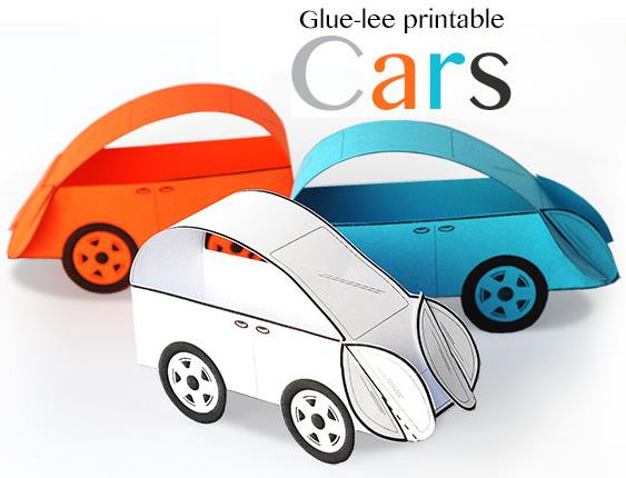 Glue Lee Printable Cars Paper Toys For Kids