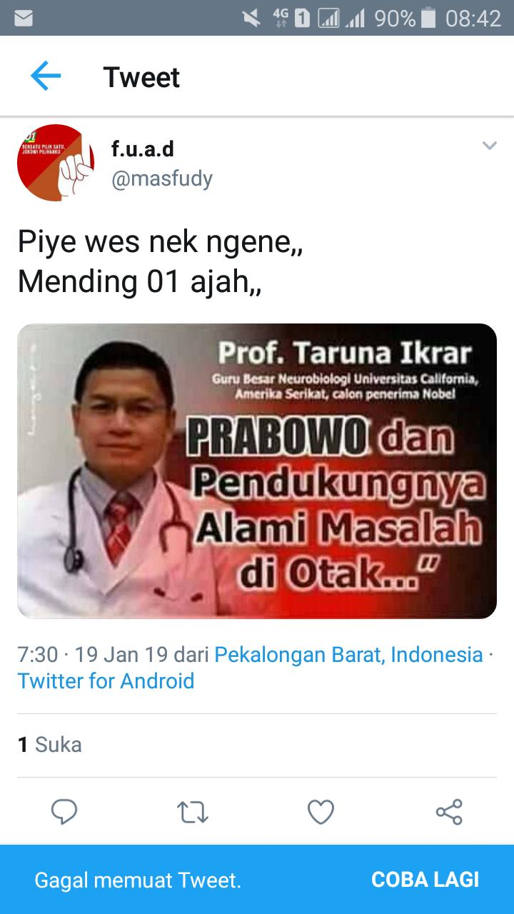 Dosen IAIN Pekalongan Sebar Hoaks Terkait Prabowo dan Pendukungnya