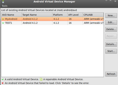 how to start android emulator