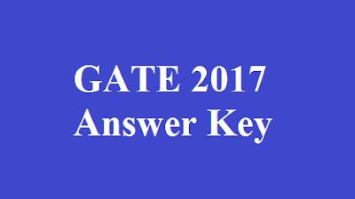GATE 2017 Answer Key