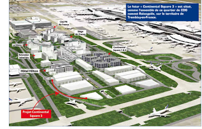 Roissypole Plan aéroport de Paris Roissy Charles de Gaulle