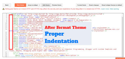 After format theme blogger