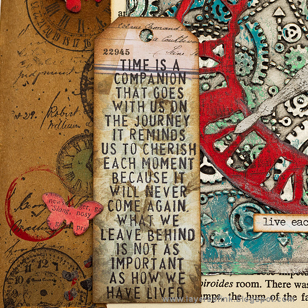 Layers of ink - Grungy Time Tutorial Journal Page by Anna-Karin Evaldsson