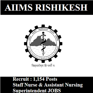 All India Institute of Medical Science, AIIMS Rishikesh, AIIMS, UK, Uttarakhand, Staff Nurse, Graduation, freejobalert, Sarkari Naukri, Latest Jobs, Hot Jobs, aiims rishikesh logo