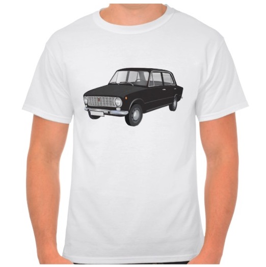 Fiat 124 automobile t-shirt