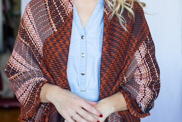 grand foulard charpe châle veste