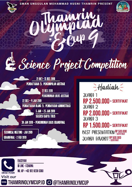 Lomba LKTIN Science Project 2019 SMA Sederajat