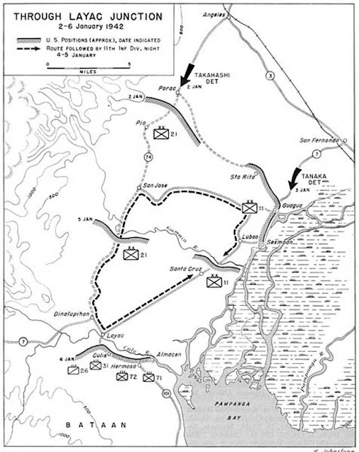 Map of the battle at Laytac Junction in the Malay Peninsula, 5 January 1942 worldwartwo.filminspector.com