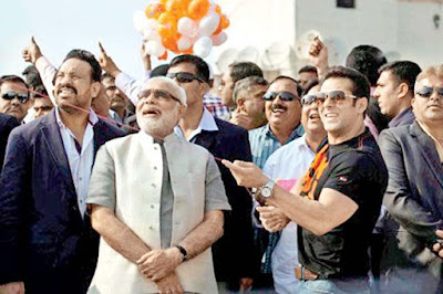 PM-Modi-super-star-Salman-khan-celebrating-sankrant