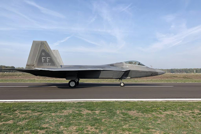 F-22 Raptors Kleine Brogel Belgium
