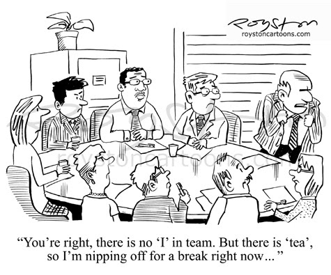 Royston Cartoons: Boardroom cartoon: Teamwork