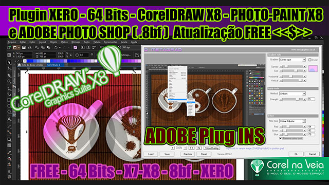 Plugin XERO - 64 Bits - CorelDRAW X8
