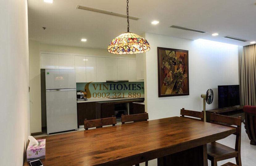 Park 4 Vinhomes cho thuê căn hộ 4 phòng ngủ view trực diện công viên | bàn ăn cạnh bếp