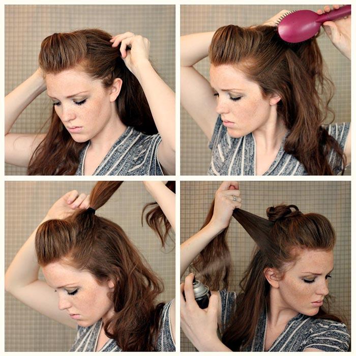 bukleli saç topuzu resimli anlatım
