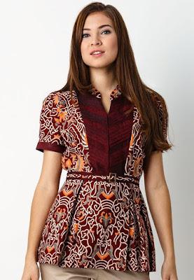 Model Baju Batik Wanita Gemuk7