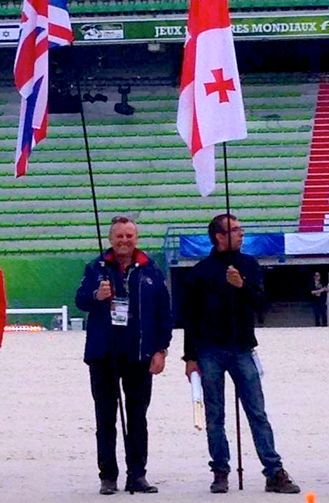 British team farrier and flag bearer Haydn Price of Wales