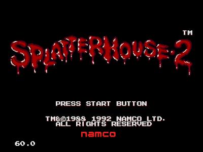 【MD】鬼屋2(Splatterhouse.2)原版+無限生命、HP、快速過關Hack版!