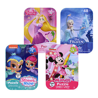 Licensed Character Mini Puzzles in Tins