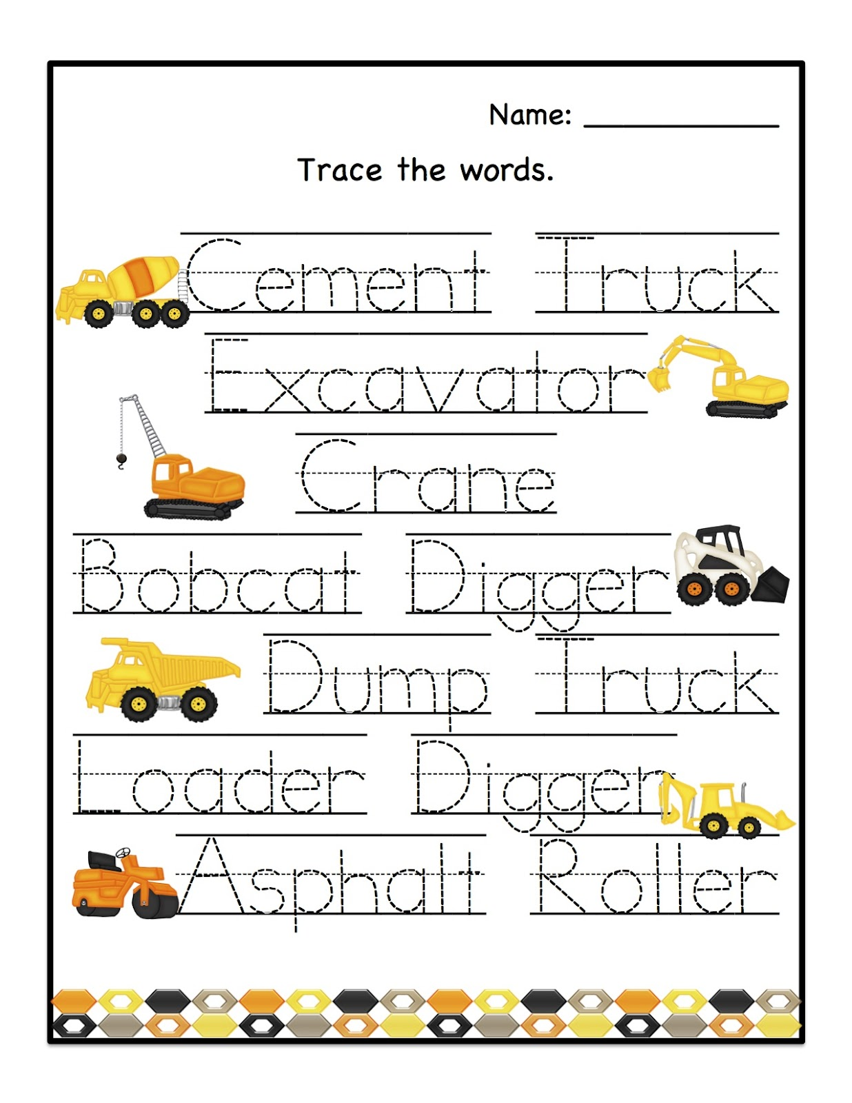 Preschool Printables: August 2012