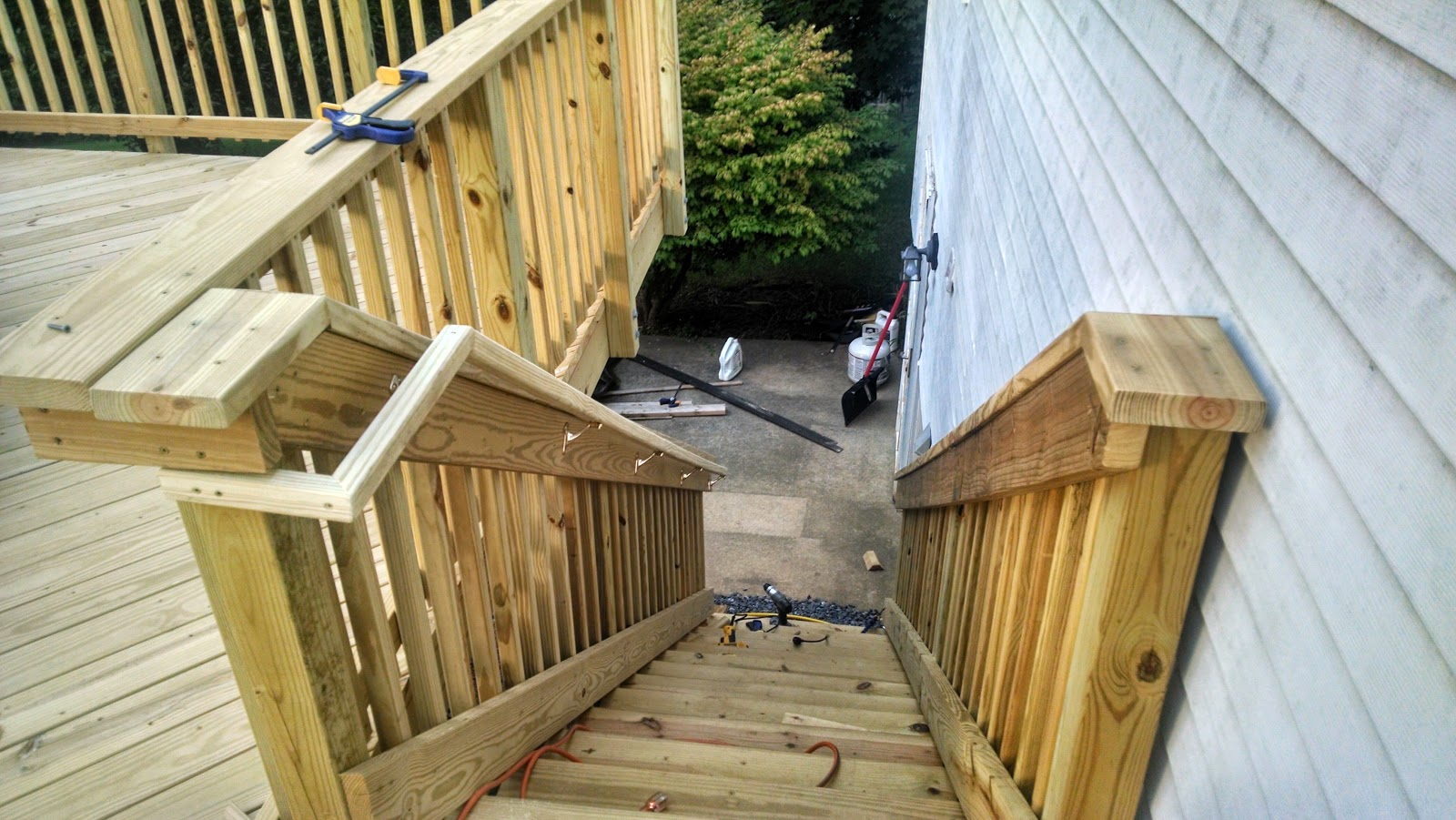 Shegogue Brew I Built A Deck Now I Can Get Back To | Pressure Treated Graspable Handrail