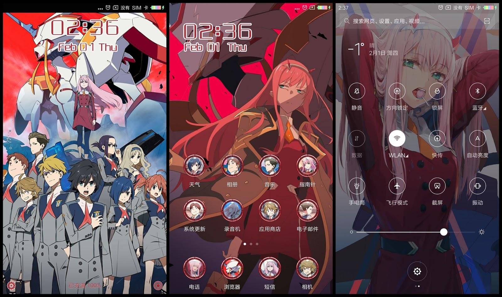 Tema Xiaomi Darling In The FranXX V1