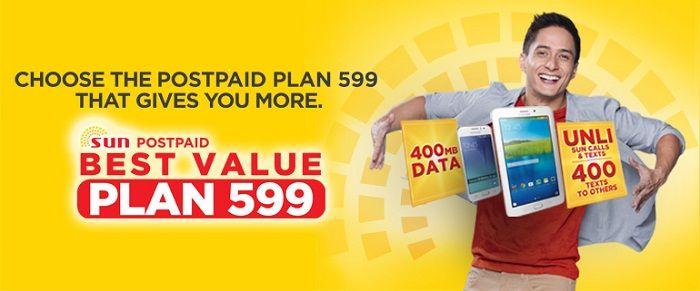 Sun Postpaid's Best Value Plan 599