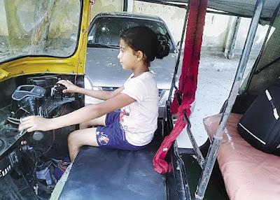 التوك توك, اصغر سائقة توك توك, حكاية طفلة,