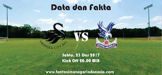 Data dan Fakta Fantasy Premier League Swansea City vs Crystal Palace Fantasi Manager Indonesia